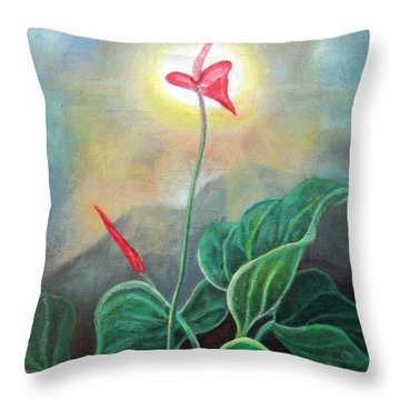 Morning Glory 1 Throw Pillow