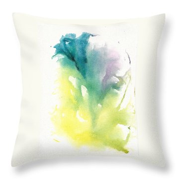 Throw Pillow featuring the painting Morning Glory Abstract by Frank Bright