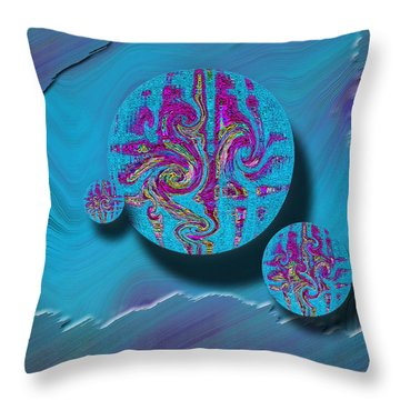 Throw Pillow featuring the mixed media Morning Glory by Carl Hunter