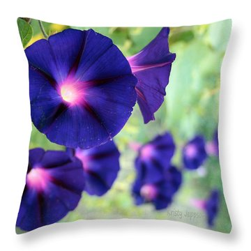 Morning Glory Climbing Throw Pillow