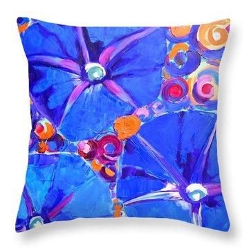 Morning Glory Flowers Throw Pillow by Ana Maria Edulescu