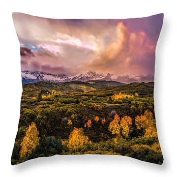 Throw Pillow featuring the photograph Morning Glory by Ken Smith