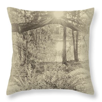 Throw Pillow featuring the photograph Morning Glory by Margaret Palmer