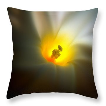 Morning Glory Throw Pillow by Nick Kloepping