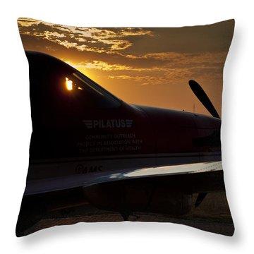 Morning Glory  Throw Pillow by Paul Job