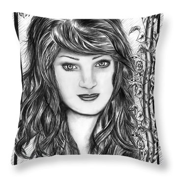 Morning Glory  Throw Pillow by Peter Piatt