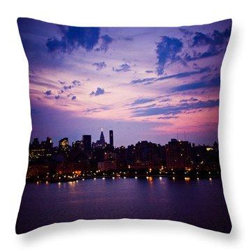 Morning Glory Throw Pillow by Sara Frank