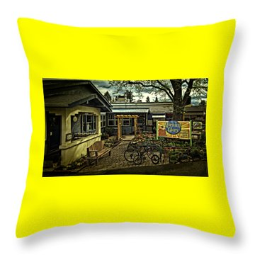 Throw Pillow featuring the photograph Morning Glory Cafe Ashland by Thom Zehrfeld