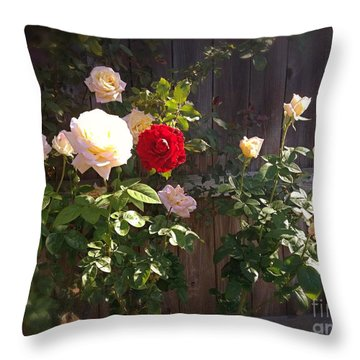 Morning Glory Throw Pillow by Vonda Lawson-Rosa