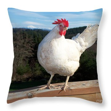 Throw Pillow featuring the photograph Morning Greeting by Chalet Roome-Rigdon