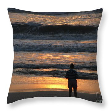 Throw Pillow featuring the photograph Morning Has Broken by Greg Patzer