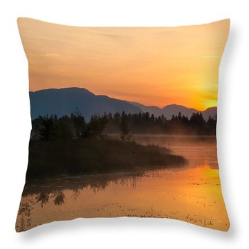 Throw Pillow featuring the photograph Morning Has Broken by Jack Bell