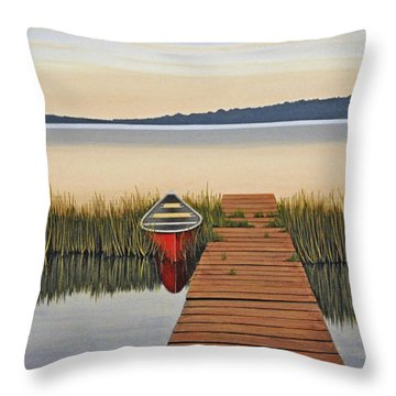 Throw Pillow featuring the painting Morning Has Broken by Kenneth M  Kirsch