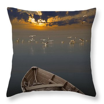 Morning Has Broken Like The First Morning Throw Pillow by Randall Nyhof