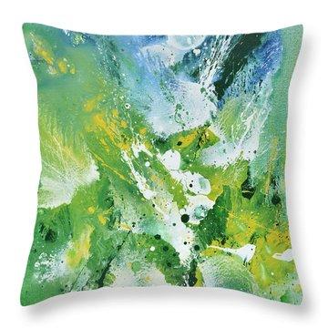 Morning Hillside Throw Pillow