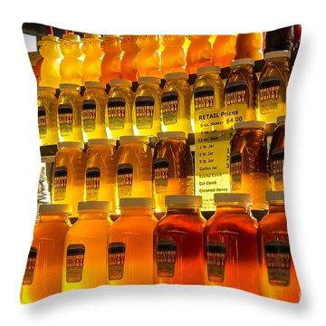 Morning Honey Throw Pillow