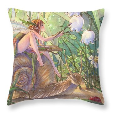 Morning Hues Throw Pillow by Sara Burrier