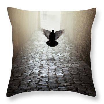 Morning Impression With A Dove Throw Pillow