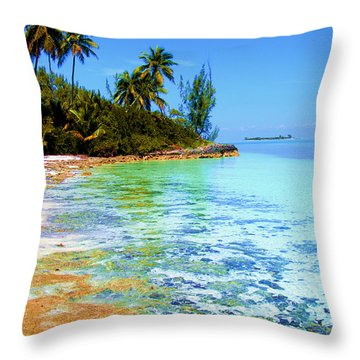 Morning In Andros  Throw Pillow by Victor Minca