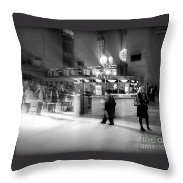 Morning In Grand Central Throw Pillow by Miriam Danar
