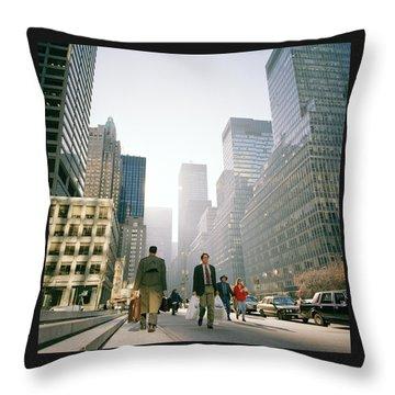 Morning In Manhattan Throw Pillow by Shaun Higson