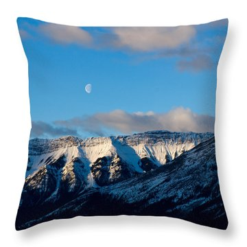 Morning In Mountains Throw Pillow