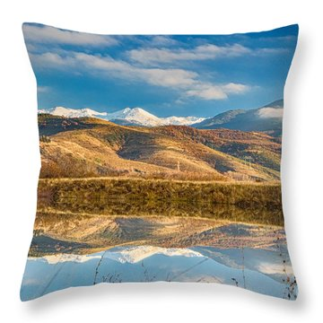 Morning In Pirin Mountain Throw Pillow