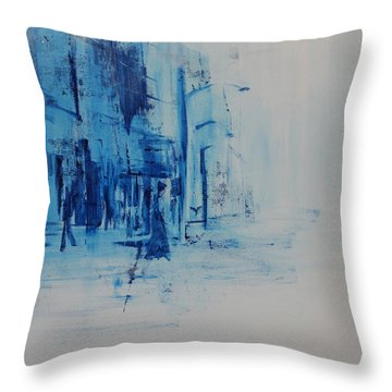 Morning In The City Throw Pillow