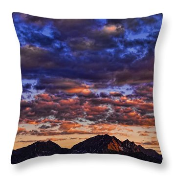 Morning In The Mountains Throw Pillow by Don Schwartz