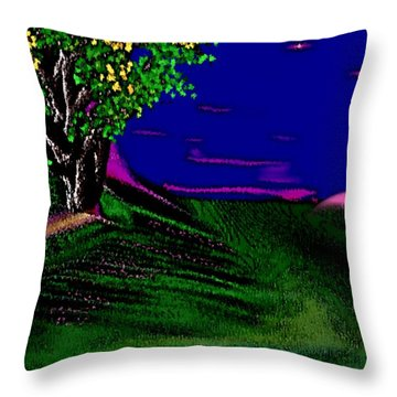 Morning In The Mountains.  Throw Pillow