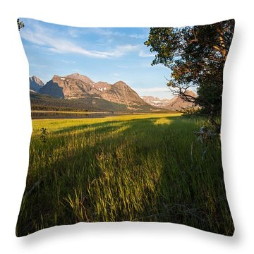 Throw Pillow featuring the photograph Morning In The Mountains by Jack Bell