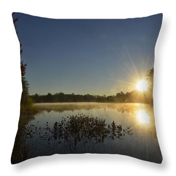 Morning In The North Woods Throw Pillow