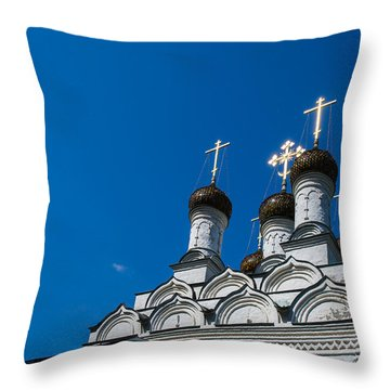 Morning In The Old City - Feature 3 Throw Pillow by Alexander Senin