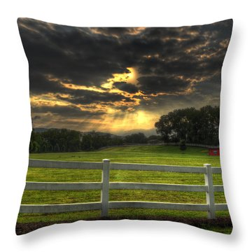 Throw Pillow featuring the photograph Morning In The Western North Carolina Mountains by Greg and Chrystal Mimbs