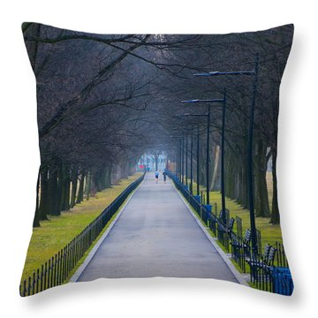 Morning In Washington D.c. Throw Pillow