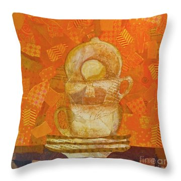 Morning Joe Throw Pillow by Desiree Paquette