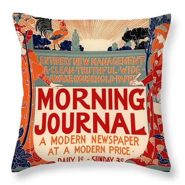 Morning Journal Throw Pillow