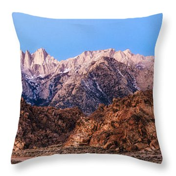 Morning Light Mount Whitney Throw Pillow