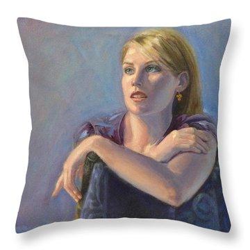 Morning Light Throw Pillow by Sarah Parks