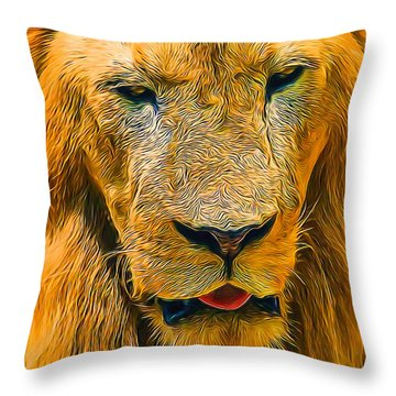 Morning Lion Throw Pillow