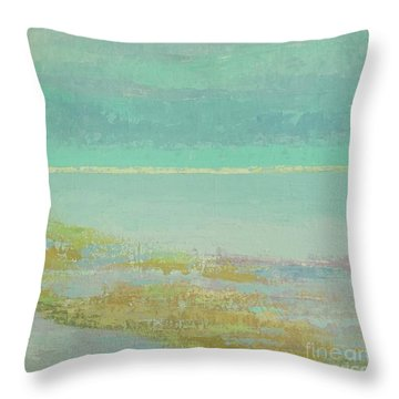 Morning Low Tide Throw Pillow by Gail Kent