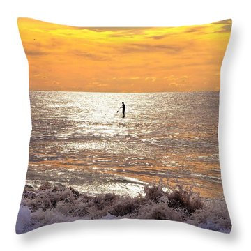 Sunrise Solitude Throw Pillow