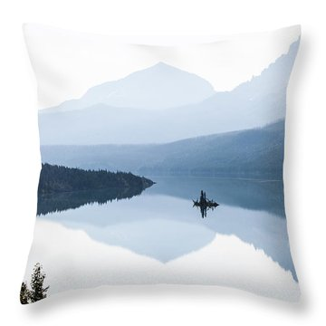 Throw Pillow featuring the photograph Morning Mist by Aaron Aldrich