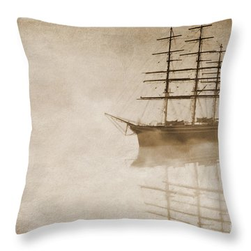 Morning Mist In Sepia Throw Pillow by John Edwards