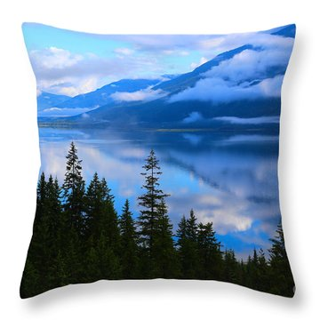 Morning Mist Rising Throw Pillow