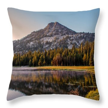 Morning Mist Throw Pillow by Robert Bales
