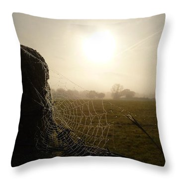 Throw Pillow featuring the photograph Morning Mist by Vicki Spindler
