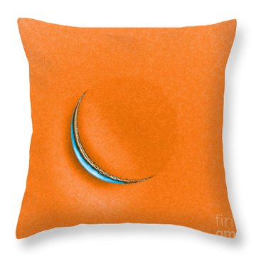 Morning Moon Orange Throw Pillow by Al Powell Photography USA