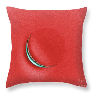 Morning Moon Red Throw Pillow by Al Powell Photography USA