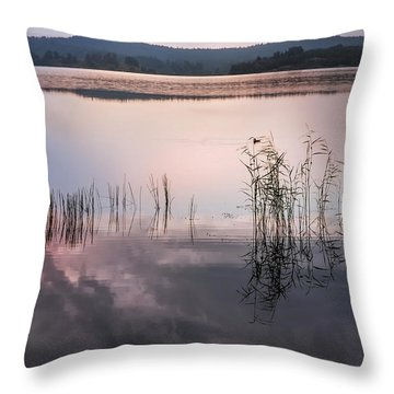 Morning Nocturne. Ladoga Lake. Northern Russia  Throw Pillow by Jenny Rainbow